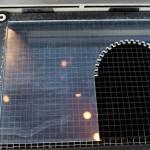 Die Acrylplatte im Laser